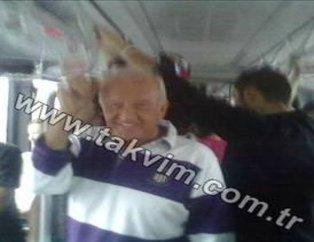 Ali Şen metrobüse bindi
