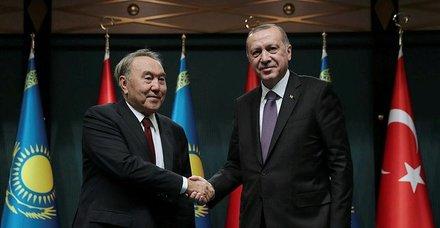 Başkan Erdoğan ile Kazakistan Cumhurbaşkanı ortak basın toplantısı düzenledi