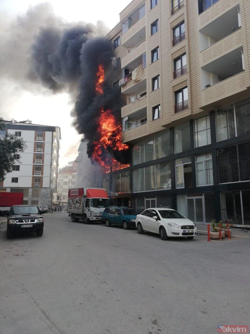 Bursa Orhangazi'de klima patladı, ortalık savaş alanına döndü