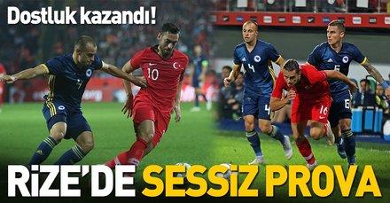 Rizede dostluk kazandı | Türkiye:0 Bosna Hersek:0 Maç sonucu