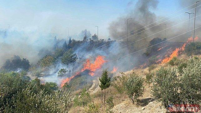 Hatay yanıyor! Alevler kent merkezini sardı