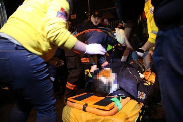 Sinan Çetinin oğlu polis otosuna çarptı