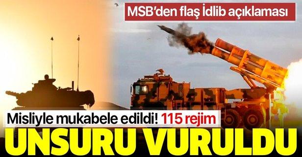 MSB'den İdlib açıklaması: 115 rejim hedefi vuruldu