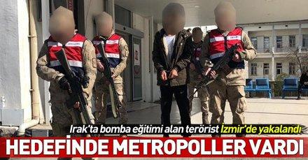 Irak'ta bomba eğitimi alan 'Agit Irmak' kod adlı PKK'lı terörist İzmir'de yakalandı