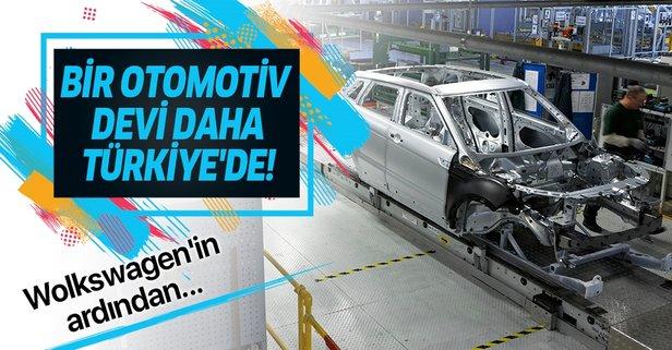 Bir otomotiv devi daha Türkiye'de!