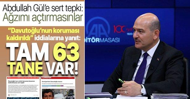 Davutoğlu'nun koruması kaldırıldı iddialarına yanıt