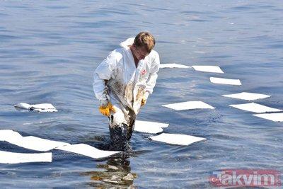 Son dakika...Aliağa ve Foça sahillerinde petrol kirliliği