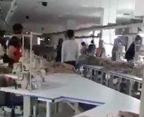 Saygı duruşu sırasında terör örgütü sloganı atan işçi dayak yedi