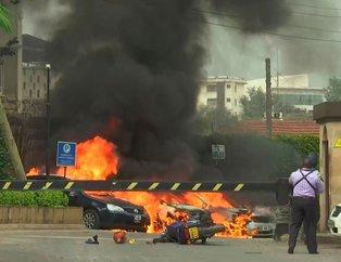 Kenya'da lüks otelde patlama! Silah sesleri de duyuldu