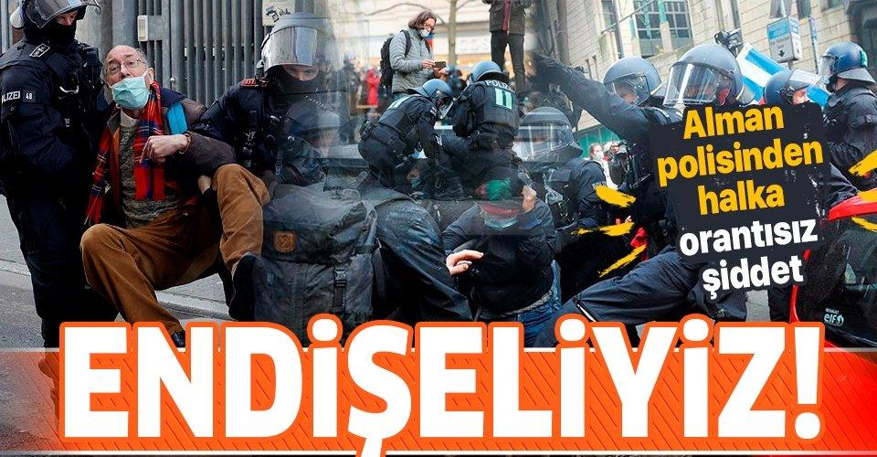 Almanya polisinden orantısız güç!