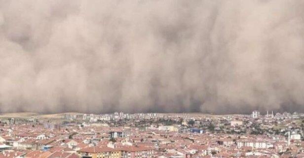 Ankara'da kum fırtınası: 6 yaralı