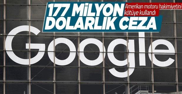 Google'a 177 milyon dolarlık ceza