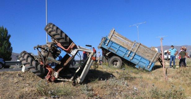 Acı olay! Tarım işçilerini taşıyan traktör kaza yaptı