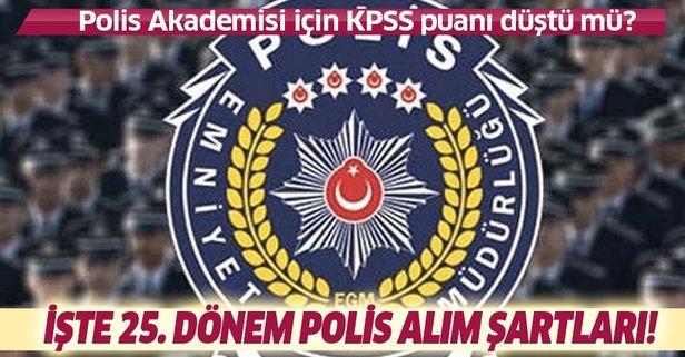 Polis Akademisi KPSS puanı düştü mü?