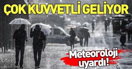 Meteoroloji'den son dakika uyarısı   18 Nisan hava durumu