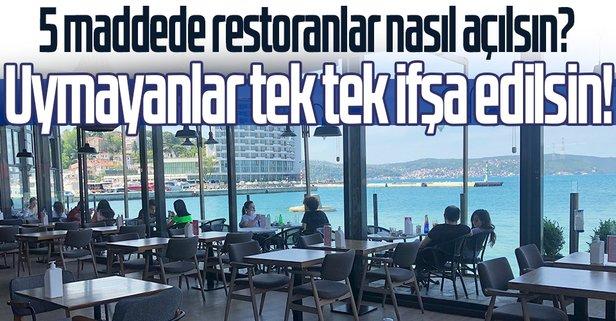 5 maddede restoranlar nasıl açılsın?