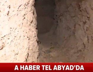PKK/YPG'nin Tel Abyad ana komuta merkezindeki tünel ve cephaneliği görüntülendi! İşte teröristlerin hain tuzakları