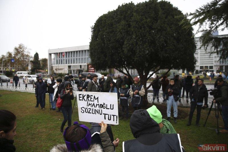 Sözünü tutmayan Ekrem İmamoğlu'na karşı İBB önündeki fayton eylemi 6. gününde!