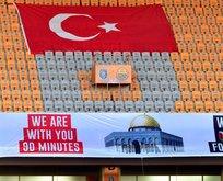 Fenerbahçe ile Sivassporlu futbolculardan İsrail'e protesto