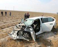 Aksaray'da korkunç kaza! Tıra arkadan çarptı