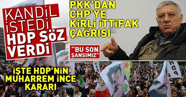 Kandil istedi HDP söz verdi! İşte HDPnin Muharrem İnce kararı