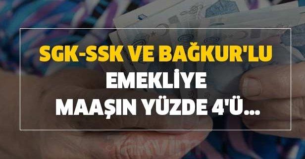 SGK-SSK ve Bağkur'lu emekliye yeni kazanç!