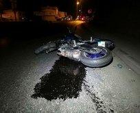İzmir'de motosiklet kazası! Metrelerce sürüklendi