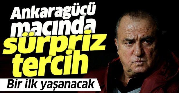Terim'den Ankaragücü maçında sürpriz karar