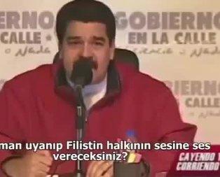 İşte Maduro'nun tarihe geçen Filistin konuşması