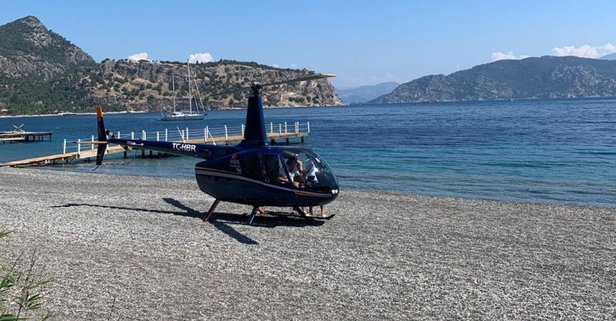 Turistik koya helikopter indi!