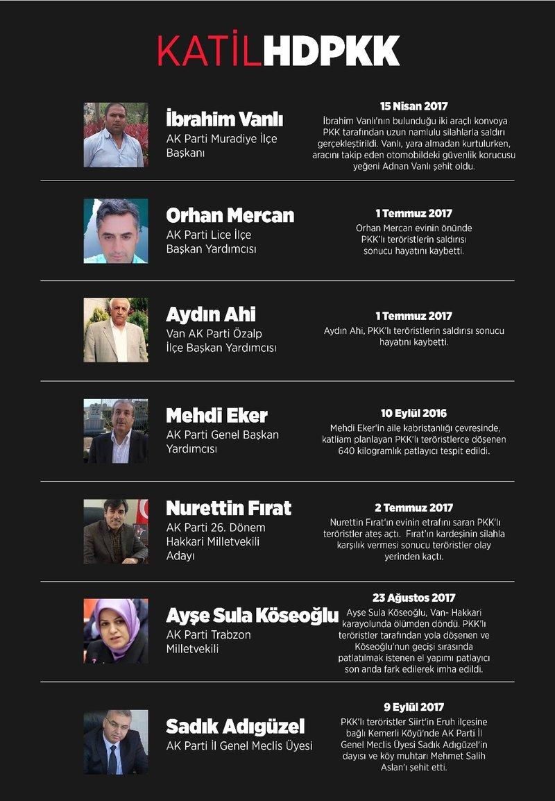 HDPKK'nın AK Partililere yönelik saldırıları