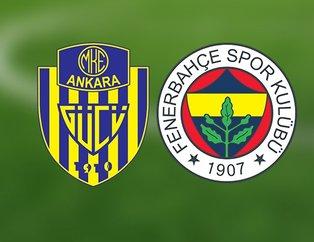 Fenerbahçe Ankaragücü maçı ne zaman, saat kaçta, hangi kanalda?