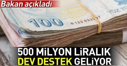 Bakan Varank açıkladı! 500 milyon liralık dev destek geliyor