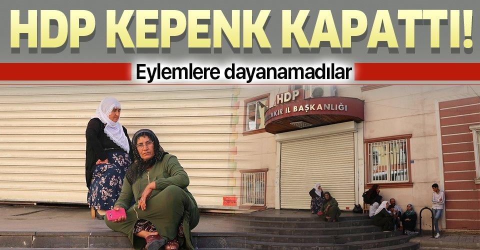 Diyarbakır'da ailelerin eylemi üzerine HDP kepenk kapattı