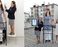 Dünyanın en uzun kadını rekora doymuyor