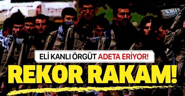 PKK eriyor! 635 kişi eli kanlı terör örgütünden kaçtı!