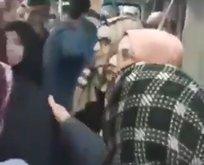 Bir kadın, başörtülü kadına Kara Fatma diyerek saldırdı!
