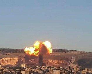 İşte Afrinin bombalanma anı!
