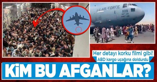 ABD kargo uçağındaki Afganlar...