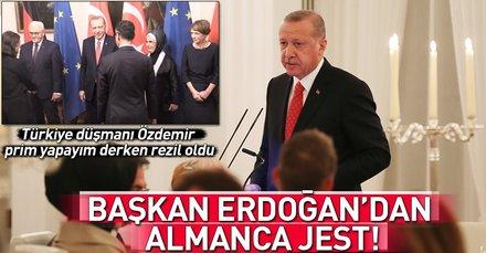 Türkiye düşmanı Cem Özdemir'e Erdoğan şoku!