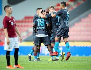 Trabzonspor tur için sahada! İşte Trabzonspor'un Sparta Prag 11'i...