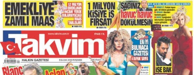 Günün öne çıkan gazete manşetleri | 8 Kasım 2018 Perşembe
