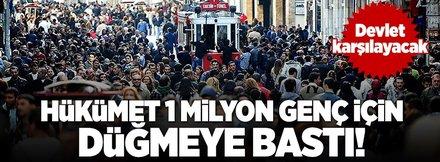 Hükümet 1 milyon işsiz genç için düğmeye bastı