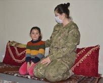 Mehmetçik 9 yaşındaki Hira'nın isteği için harekete geçti