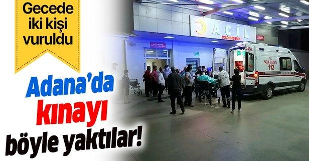 Adana'da bir kına gecesinde iki kişi vuruldu