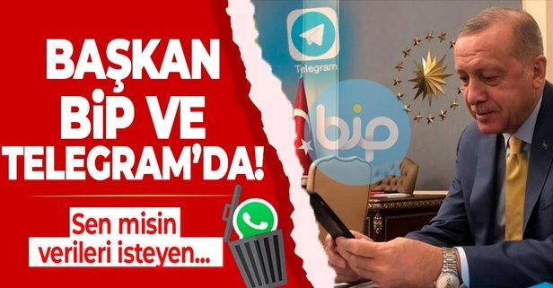 Başkan Erdoğan 'BİP' dedi