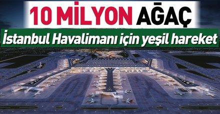 İstanbul Havalimanı için yeşil harekât   10 milyon ağaç dikilecek