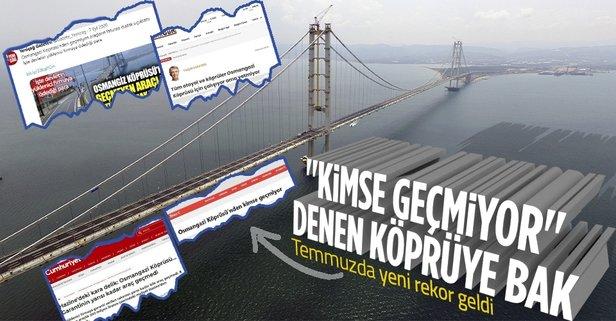 Osmangazi Köprüsü'nde yeni rekor! İşte o rakamlar