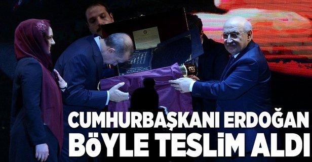 Cumhurbaşkanı Erdoğana hediye edildi!