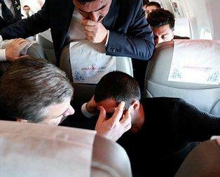 Bakan'dan uçakta ilk müdahale